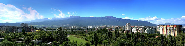 Short breaks to Bulgaria: Sofia - panoramic view of Vitosha mountain