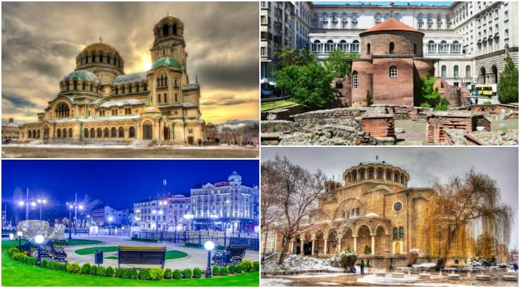 Bulgaria capital Sofia: Alexander Nevsky Cathedral, Church of St. George, lavov most,  St. Nedelya Church